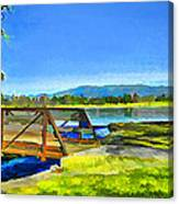 Lake Balboa Bridge Canvas Print