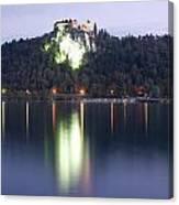 Lake Bled Castle At Dawn Canvas Print