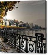 Lake Front With Autumn Trees Canvas Print