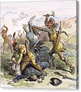 Lake George: Massacre, 1757 Canvas Print