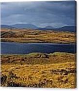 Lake In A Bog, Oughterard, Connemara Canvas Print