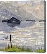 Lake Kilarney Ring Of Kerry Watercolour Painting Canvas Print