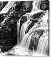 Lake Mcdonald Falls Glacier National Park Canvas Print