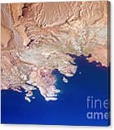 Lake Mead Shores Nv Planet Earth Canvas Print