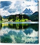 Lake Misurina - Dolomites, Italy Canvas Print