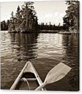 Lake Of The Woods, Ontario, Canada Boat Canvas Print