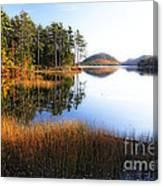 Lake Reflections In Acadia Canvas Print