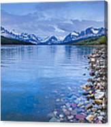 Lake Sherburne Shoreline Canvas Print