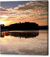 Lake Sunrise Canvas Print