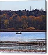 Lake Wingra Fishing Canvas Print