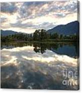 Lake With Clouds Canvas Print