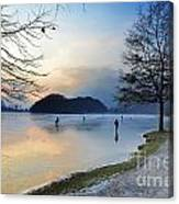 Lake With Ice Canvas Print