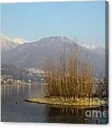 Lake With Island Canvas Print