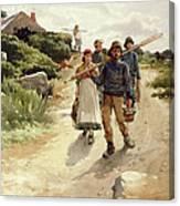 Lamorna Cove Cornwall Canvas Print