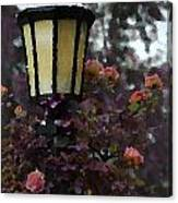 Lamp And Roses Canvas Print