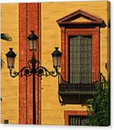 Lamp And Window In Sevilla Spain Canvas Print