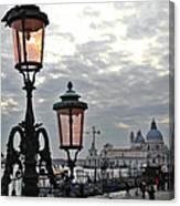 Lamp At Venice Canvas Print