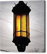Lamp Post At The Church Canvas Print