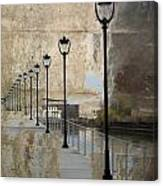 Lamp Posts And Concrete Canvas Print