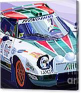 Lancia Stratos Alitalia Rally Catalonya Costa Brava 2008 Canvas Print