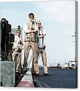 Landing Signal Officers Guide An F-14 Canvas Print
