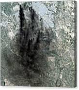 Landsat Image Of Baghdad Showing Dark Canvas Print