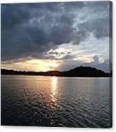 Landscape Lake At Sunset Canvas Print