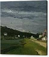 Landscape With Stormy Sky Canvas Print