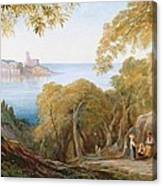 Landscape With View Of Lerici Canvas Print