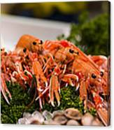 Langoustines At The Market Canvas Print