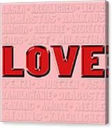 Language Of Love 4 Canvas Print