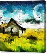 Lanscape With A House Tnm Canvas Print