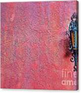 Lantern And Adobe Wall Canvas Print