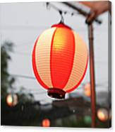 Lantern At Ginza Festival Canvas Print