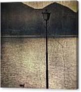 Lantern At The Lake Canvas Print