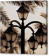 Lanterns And Fronds Canvas Print
