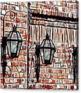 Lanterns In The Courtyard Canvas Print