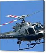 Lapd Aerial Chopper Canvas Print