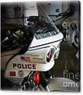 Lapd Motorcycle Canvas Print
