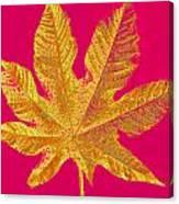 Large Leaf Photoart Canvas Print