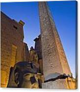 Large Pharaohs Head Statue And Obelisk Canvas Print