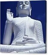 Large Seated White Buddha Canvas Print