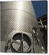 Large Steel Vat For Wine Making Canvas Print