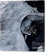 Larsen B Ice Shelf Breaking Away 2 Of 5 Canvas Print