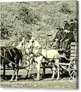 Last Deadwood Coach 1890 Canvas Print