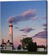 Last Light Of Day At Wind Point Lighthouse - D001125 Canvas Print