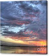 Last Light Over The Lake Canvas Print