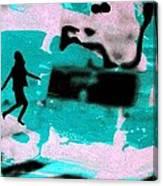 Last Minute - Digital Art Neon Colors Canvas Print