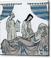 Last Rites, Middle Ages Canvas Print
