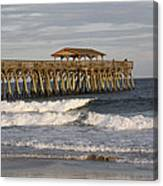 Late Afternoon At The Pier Canvas Print